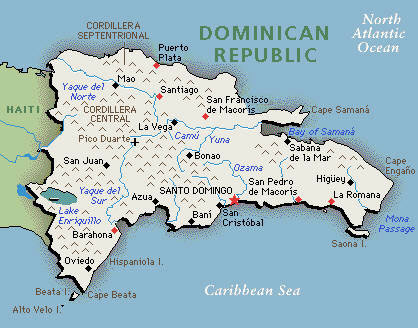 Maps Of The Dominican Republic And Samana Peninsula - A map of dominican republic
